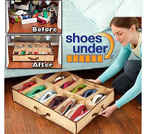Multi Storage Shoe Organiser Closet Rack for 12 Pairs Rs. 220