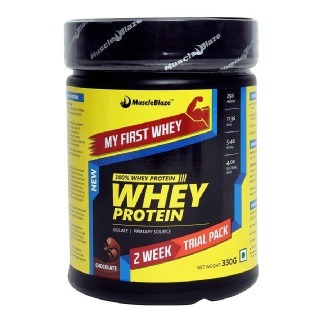 MuscleBlaze Whey Protein, 0.8 lb My First Whey- Chocolate Rs.500