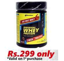 MuscleBlaze Whey Protein My First Whey, 0.8 lb Chocolate At Only Rs.299 From Healthkart.com