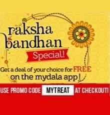Mydala Raksha Bandhan Special Offer : Free Deals on Mydala App