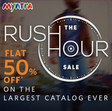 Myntra Rush Hour - Flat 50% OFF On 40000+ Products