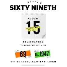 Myntra Independence Sale - Flat 69% OFF || Flat Rs.1947 OFF on Fashion Pr..