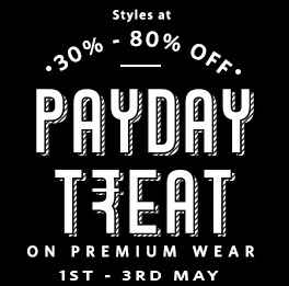 Myntra Pay Day Treat : Flat 30% - 80% Off On Lifestye Product + Free UBER rides worth 400 on all prepaid orders over 999