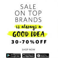 Flat 80% Off on Fashion Sale on Top Brands From Myntra App