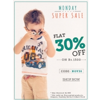 Flat 30% OFF on Minimum Purchase of Rs.1500 From Babyoye