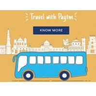 Get 50% Cash back on Bus ticket bookings From Paytm.com