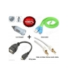 Combo Pack of OTG + Data Cable For Mobile + Car Mobile Charger + Audio Cable Rs.115 From Shopclues