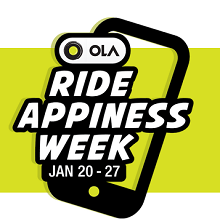 Ola Ride Appiness Week [ 20 to 27 Jan ]