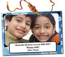 Personalised Postcard + Rakhi Rs.97 From ExcitingLives.com