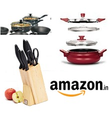 Pigeon Cookware, Dinner Sets & Kitchen tools Flat 50% OFF Starts Rs.369