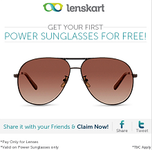 Power Sunglasses For FREE – Pay only For Power Lens From Lenskart.com