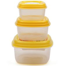 Princeware Fresh Vent Square set of 3 Containers Rs.70 From Pepperfry.com