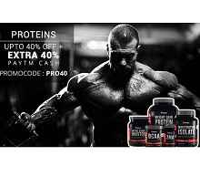 Proteins and Supplements Upto 40% OFF + Extra 40% Cashback on Rs.499