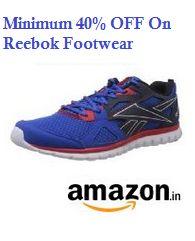 Reebok Footwear Minimum 40% OFF From Amazon.in