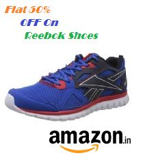 Reebok Shoes Flat 50% OFF From Amazon.in