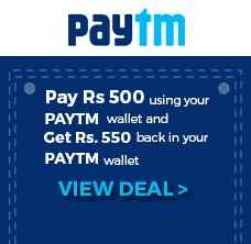 Rs. 550 PayTm Wallet Balance for Rs. 500 From Groupon