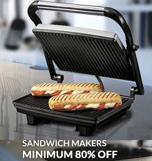 Sandwich Makers Minimum 80% OFF Starts Rs.439 From Flipkart.com