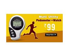Schrittzahler Pedometer Watch Rs. 87 From Tradus