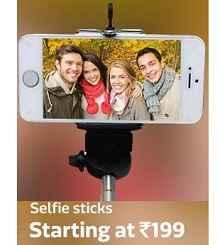 Selfi Stick & Selfi Lenses Starts Rs .199 From Flipkart.com