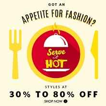 Serve it hot - Flat 30% - 80% Off On Lifestyle Products From Myntra.com