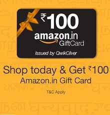 Shop Today on Amazon and Get Rs 100 Amazon Gift Voucher for Free