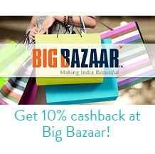 Shop with Bigbazaar & Get 10% Cashback by using Mobikwik Wallet