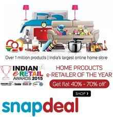 Snapdeal Home Flash Sale 20th - 21st April : Flat 40% - 70% OFF on over 1 Million Products