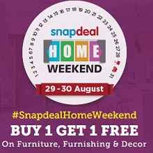 Snapdeal Home Weekend Sale : Buy 1 Get 1 Free on Furniture , Furnishing &..