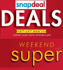 Snapdeal Weekend Super Sale Upto 70 % OFF