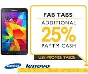 Tablets Extra 25% Cashback Starts Rs.2936 From Paytm.com