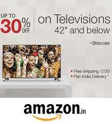 Televisions Upto 44% OFF Starts Rs.6405 From Amazon.in