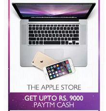 The Apple Store - Upto Rs.9000 Cashback From Paytm.com