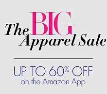 The Big Apparel Sale - Upto 60% Off on Amazon App