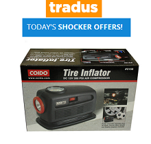 Tradus Shocker Offers - Codio Tire Inflator Air Compressor With Torch Rs...