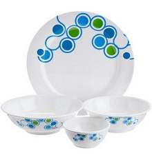 Tupperware Azure Dinner Set, 10-Pieces Rs.1850 From Amazon.in