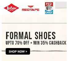 Formal Shoes Upto 70% OFF + Min 35% Cashback From Paytm