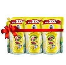 Vim Liquid Dishwash Lemon Combo Pack - 225 ml (Pack of 4) Rs. 120 From Amazon.in
