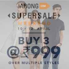 Wednesday Surprise Sale Buy 3 Product At Only Rs. 999 From Jabong.com