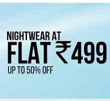 Women Nightwear Flat Rs. 499 From Clovia