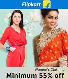 Women's Clothing Flat 55% OFF From Flipkart.com